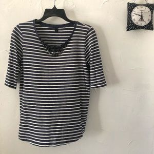 3/4 Length Striped Top